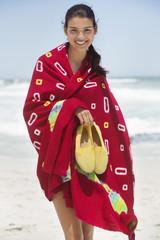 Beautiful woman enjoying on the beach