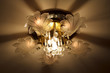 Luxury Glass Chandelier on ceiling