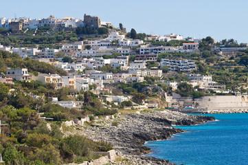 Panoramic view of Castro. Puglia. Italy.