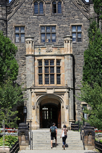 entrance to gothic style college building
