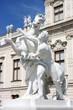 Statue at the Baroque castle Belvedere in Vienna, Austria