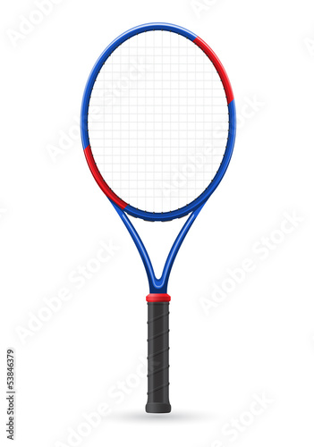tennis racket vector illustration