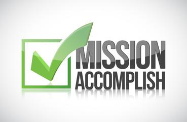 Mission accomplish sign illustration