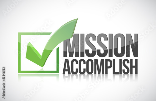 Mission accomplish sign illustration