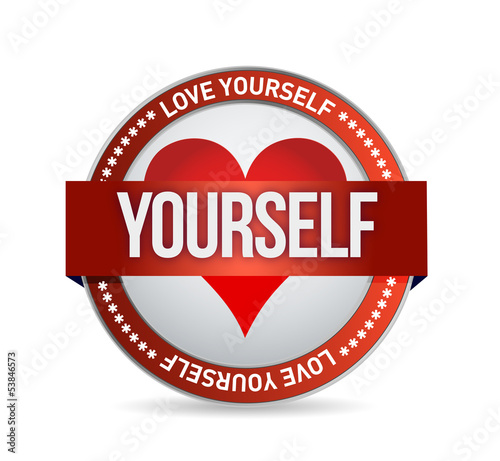 Love Yourself badge illustration