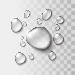 Kropla wody przejrzyste