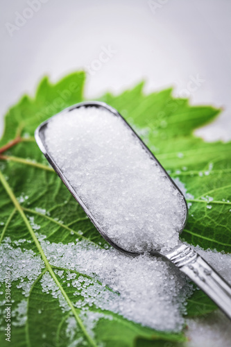 sugar and spoon