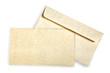 Beige card and envelope.