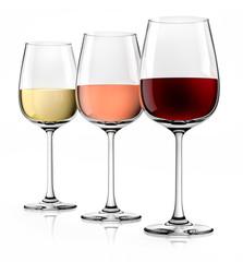 3 Weingläser