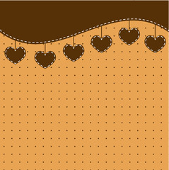 Brown background with hearts