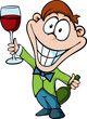 man with a glass of wine - businessman toast the success