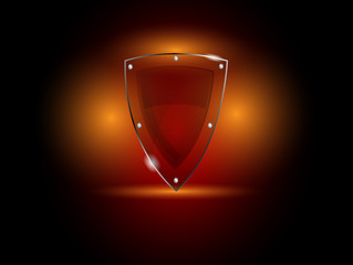 Vector glass security shield
