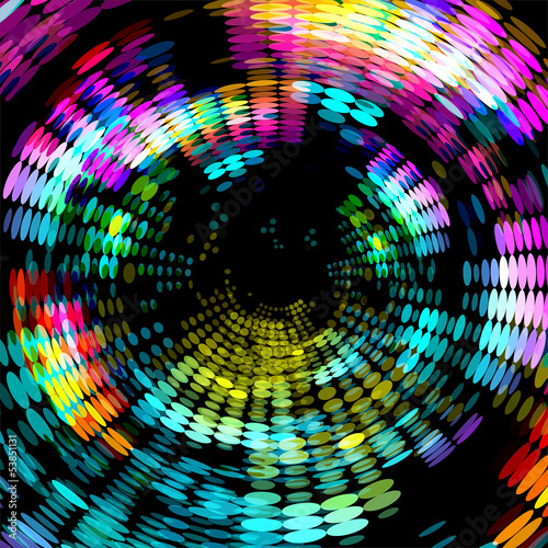 colorful dots abstract space background