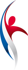 Logo premium blue white red