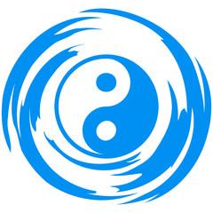 Yin Yang Swirl Design