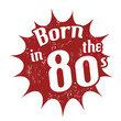 Born in the 80's stamp