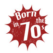 Born in the 70's stamp