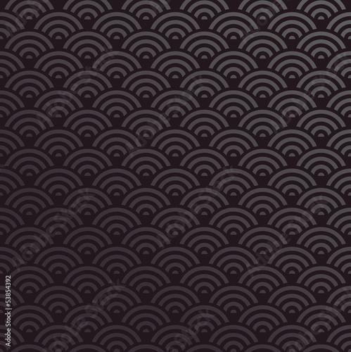 Deurstickers Kunstmatig Seamless Oriental wave pattern