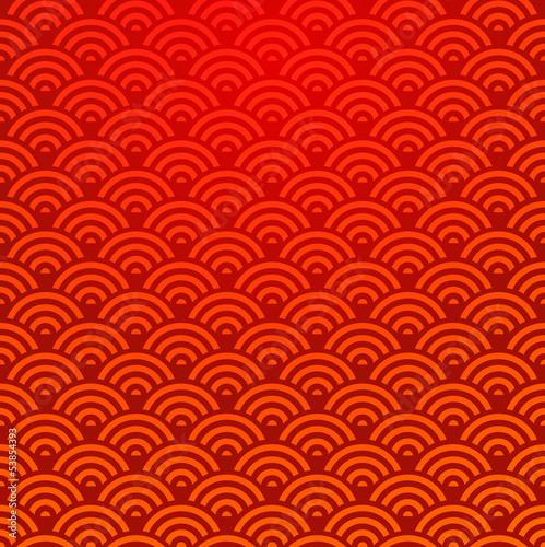 Deurstickers Kunstmatig Seamless Chinese pattern