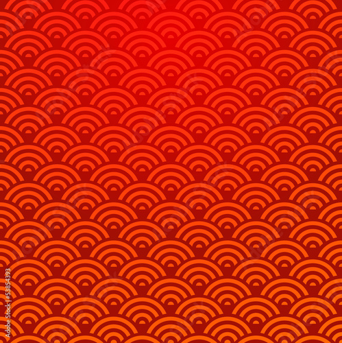 Keuken foto achterwand Kunstmatig Seamless Chinese pattern