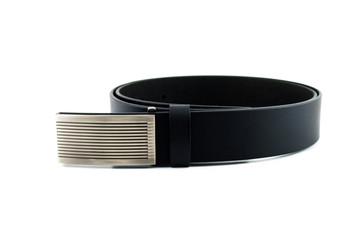 Men black belt isolated on white