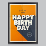 Happy birthday poster, card
