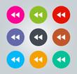 Fast rewind - Metro clear circular Icons