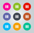 Pause - Metro clear circular Icons