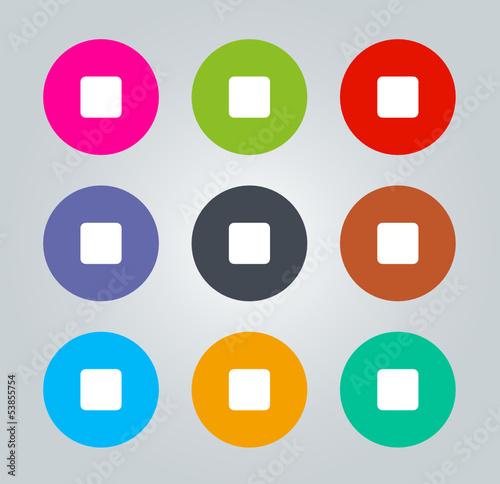Stop - Metro clear circular Icons