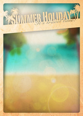 Summer paradise background
