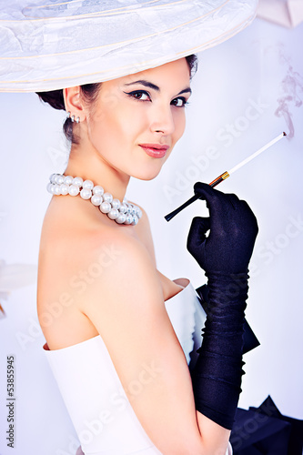 elegant smoking