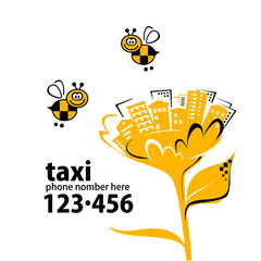 Banner for taxi service with your phone number