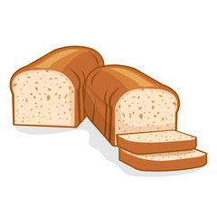 bread loaf Isolated