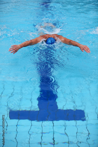 professional swimmer swimming dolphin style