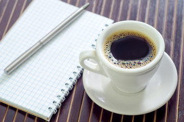 coffee and note