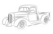 Hotrod pickup drawing