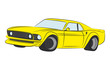 Coloured muscle car vector illustration