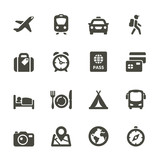 Fototapety Traveling and transport icons for Web and Mobile App. Set 4