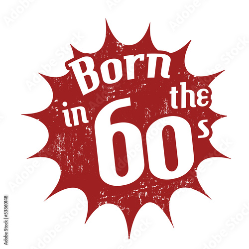 Born in the 60's stamp