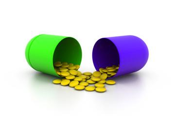 Open medicine capsule