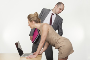 Sexual harassment in the workplace concept