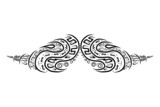 Ornate mustache shape for your design