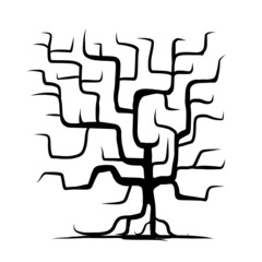 Tree trunk isolated for your design