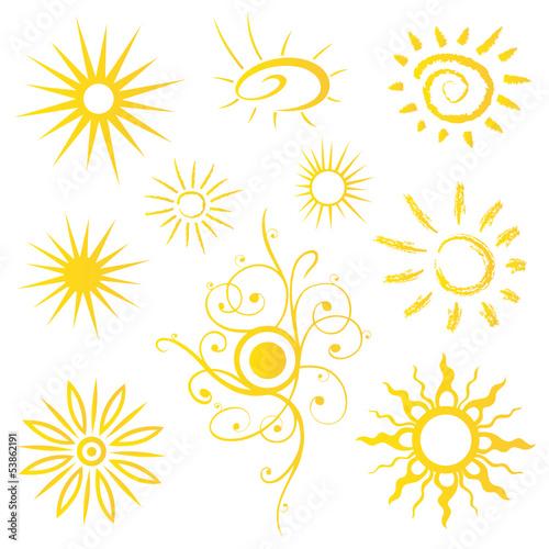 Sonne, Sun, Sommer, Urlaub, Reise, vector set