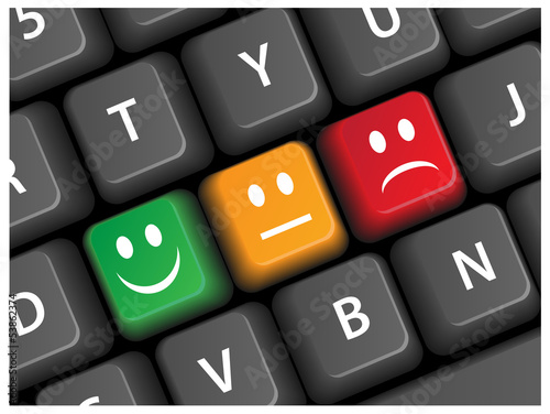 Smiley Survey Keys on Keyboard (buttons satisfaction smileys)