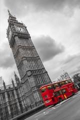 Big Ben e autobus a due piani, Londra