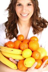 Frau mit Obst