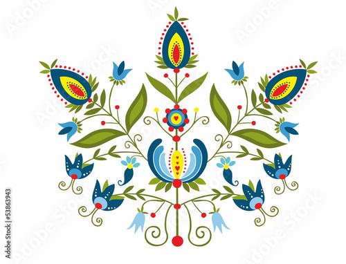 Polski wzór z ozdobnymi kwiatami © bridzia2