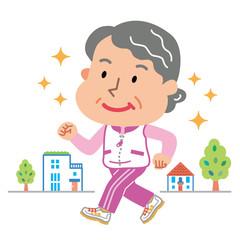 ウォーキング 高齢者 女性