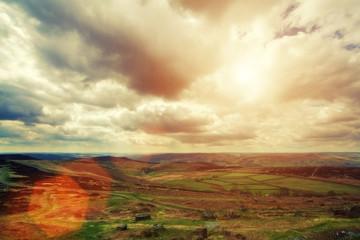 sunflare landscape